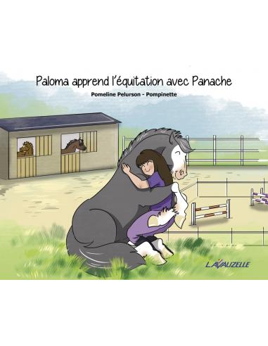 Paloma apprend l'équitation avec Panache